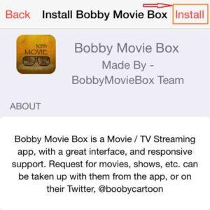 Napsauta Install-Bobby-Movie-Box