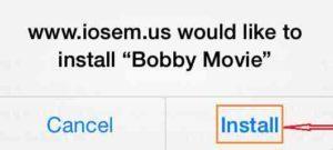 Kosketa vs. Install-Bobby-elokuva