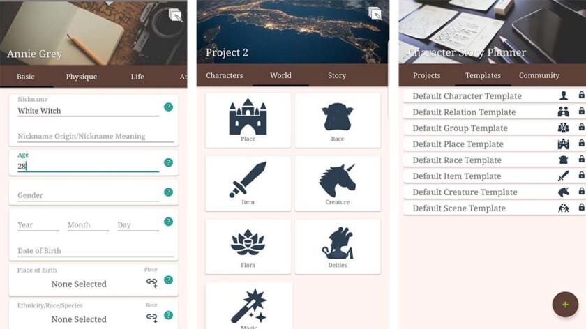 Character Story Planner 2 - лучшие приложения для написания