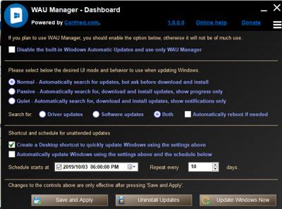 Windows  Menedżer automatycznych aktualizacji dla Windows 10