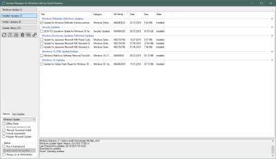 WuMgr Update Manager dla Windows 10