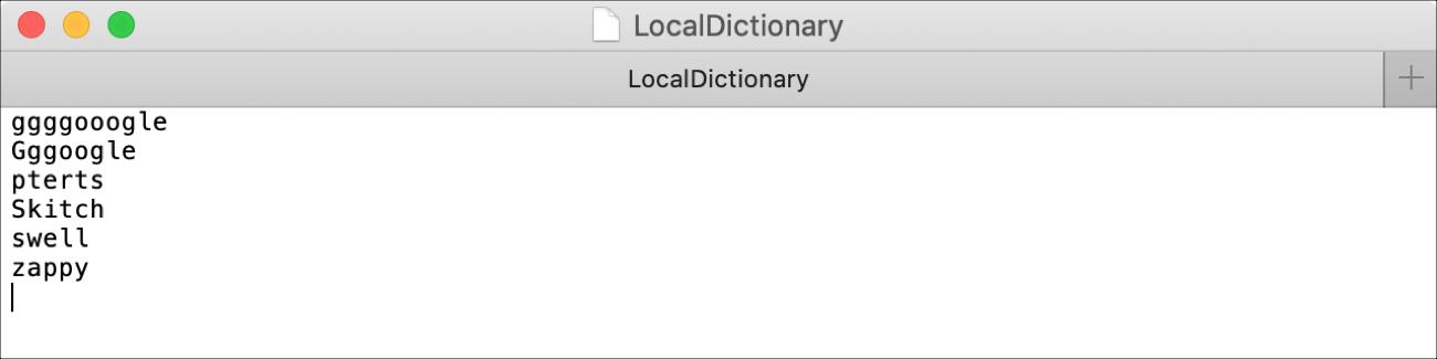 Súbor LocalDictionary Mac
