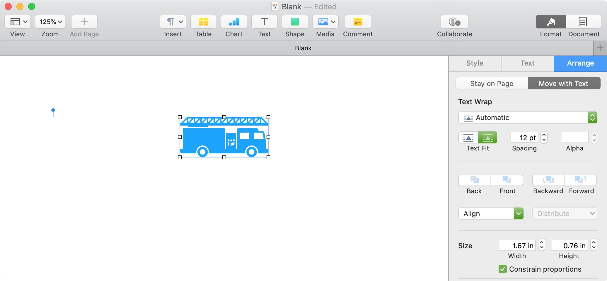 Formatuj Rozbij kształty Strony Mac