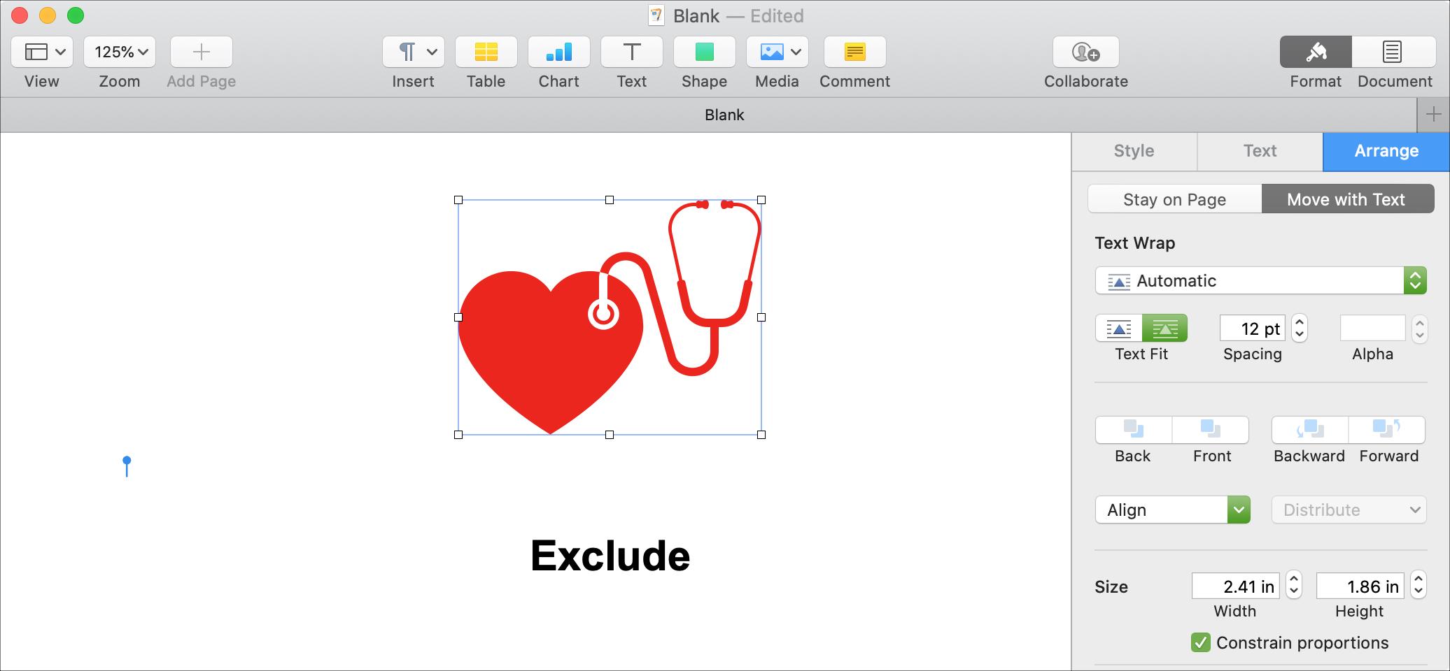 Wyklucz Mac Shapes Pages