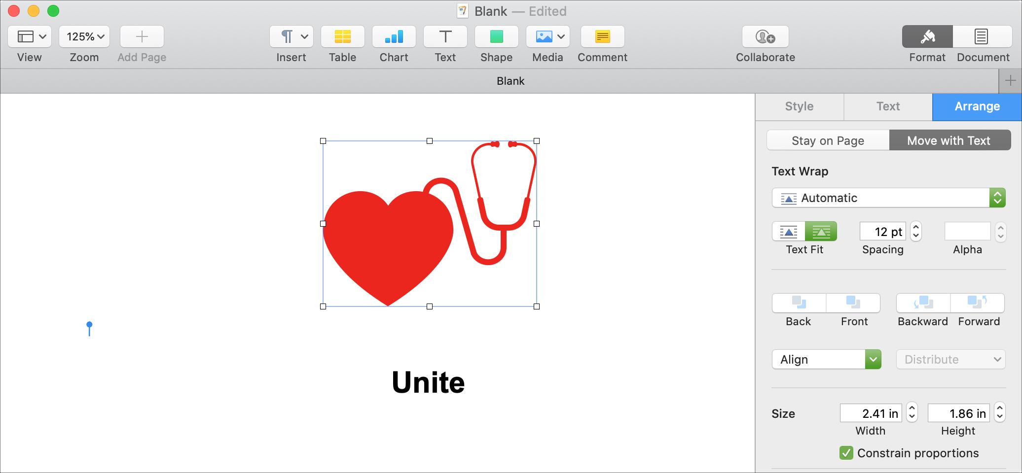 Unite Shapes Pages Mac