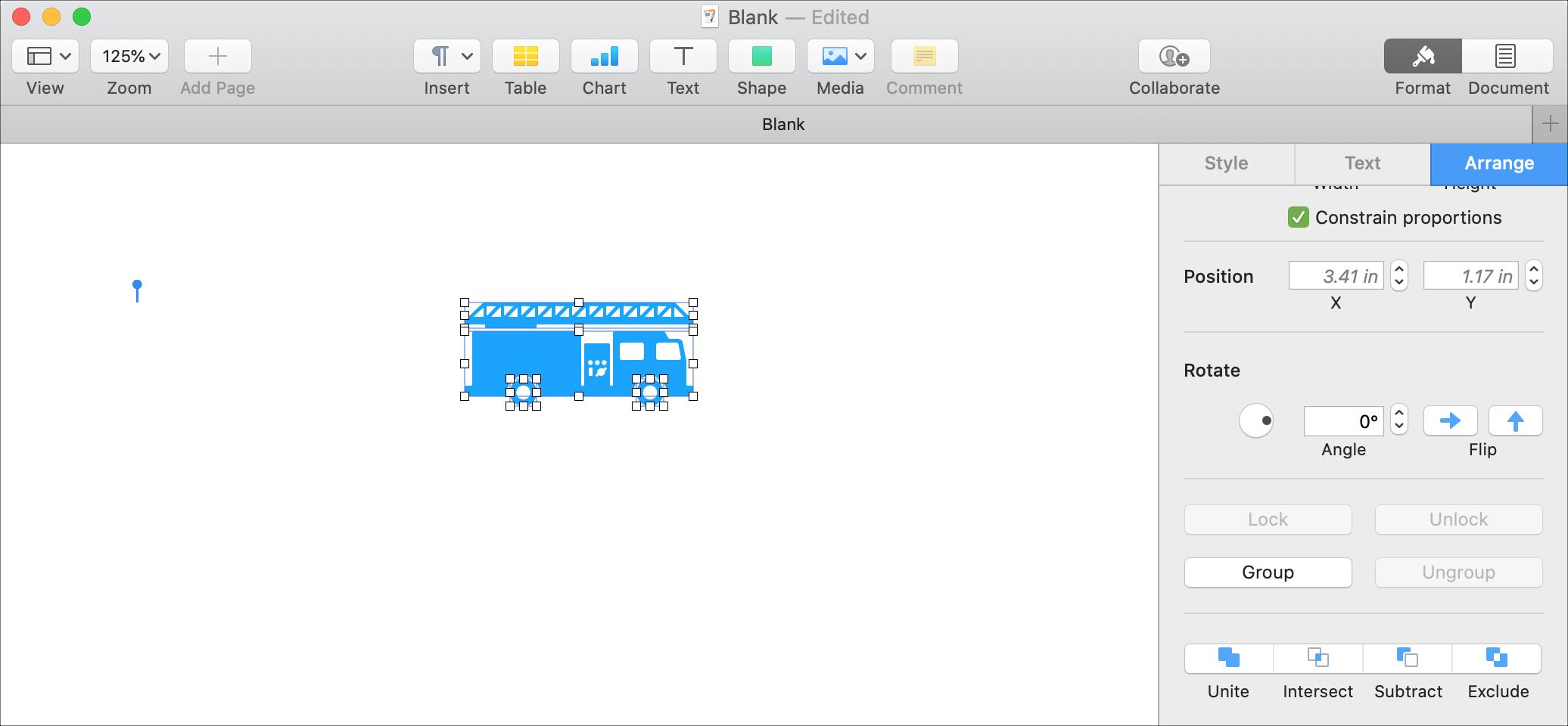 Przerwij kształty Strony Mac