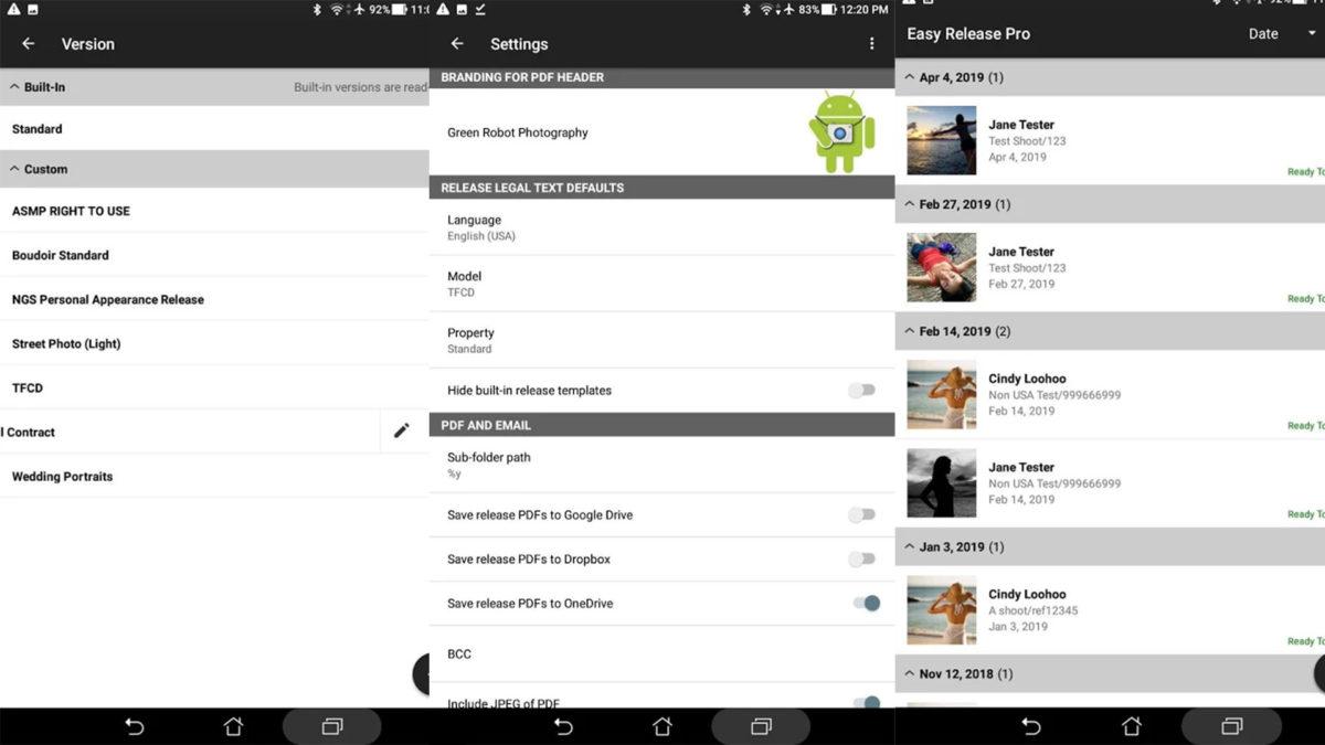 Captura de tela do programa Easy Release Pro 2020