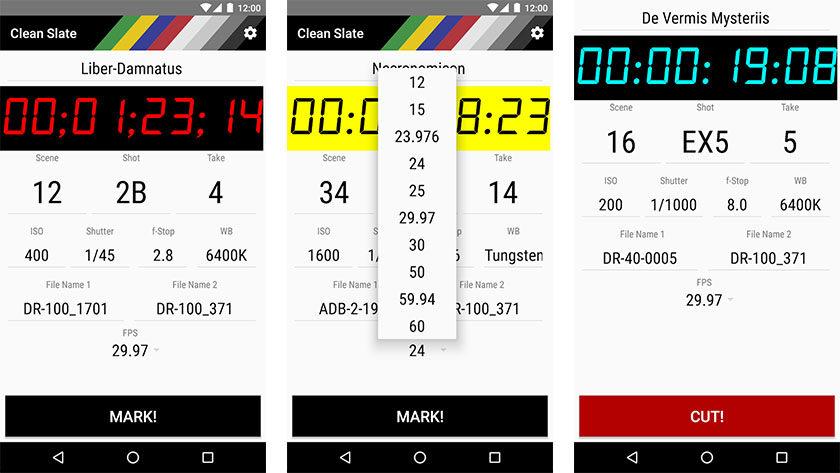Clean Slate - as melhores aplicações para cineastas no Android