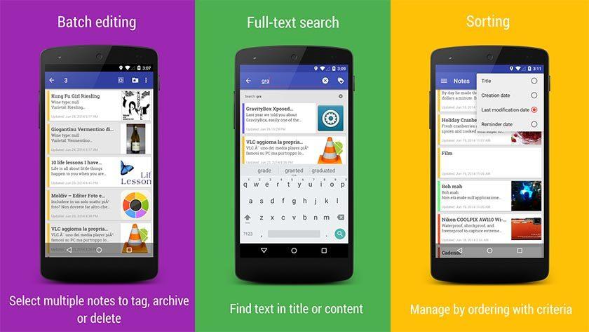 Notes Omni, os melhores aplicativos de anotações para Android