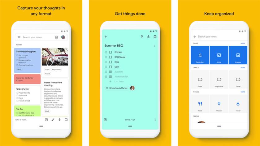 Google Keep - os melhores aplicativos de anotação para Android