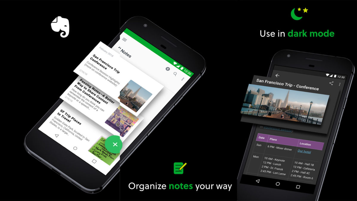 Captura de tela do Evernote 2020