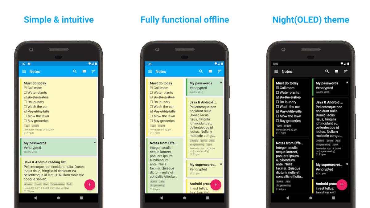 Captura de tela do FairNote 2020