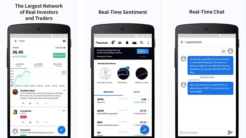 StockTwits é um dos melhores aplicativos de ações para android