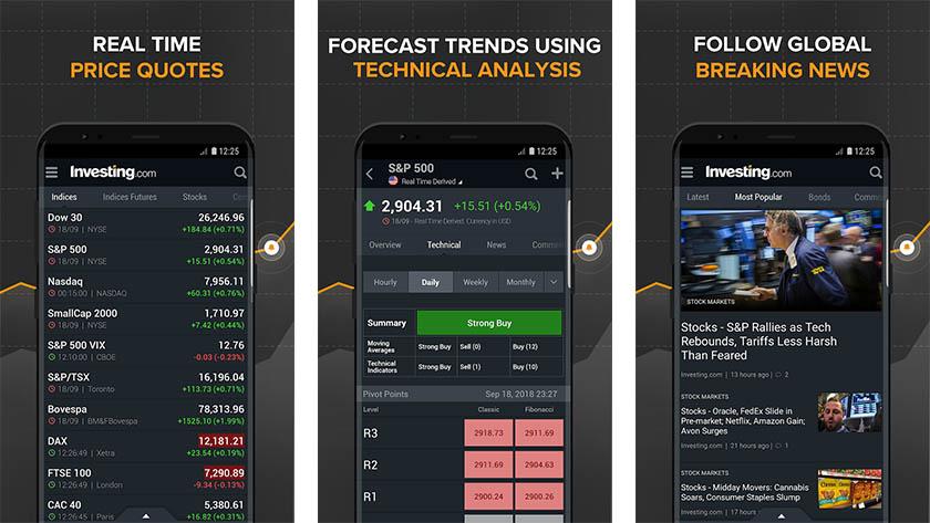 Investing.com é um dos melhores aplicativos de investimento para android