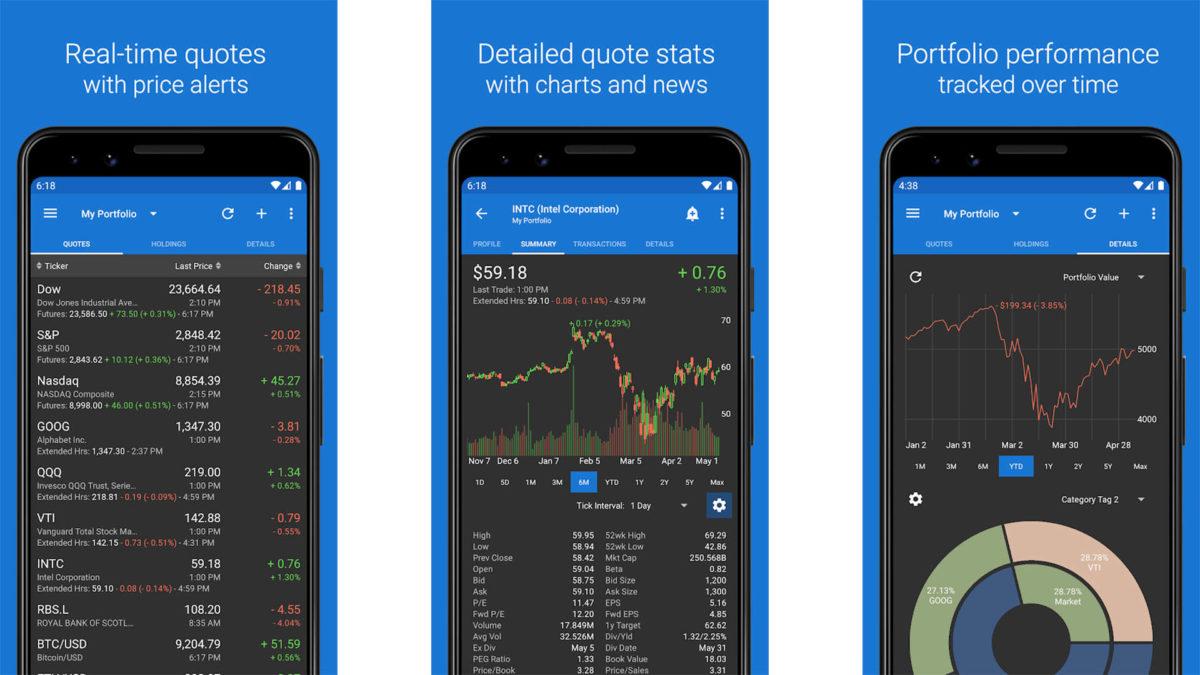 Captura de tela do My Stocks Portfolio 2020