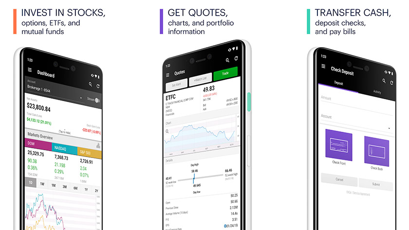 ETrade é um dos melhores aplicativos do mercado de ações para android