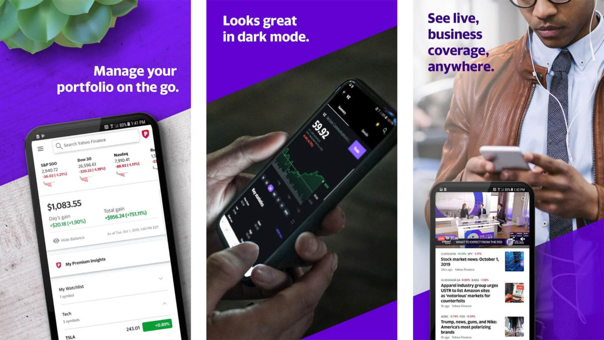 Captura de tela do Yahoo Finance 2020