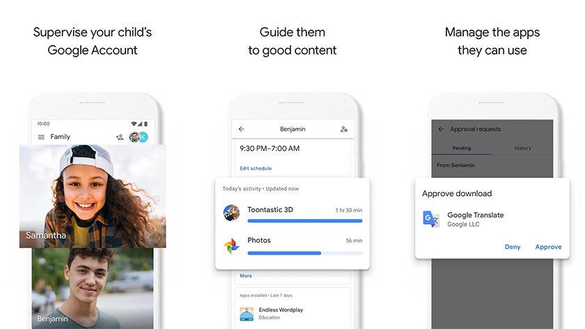 Google Family Link - os melhores aplicativos espiões no Android