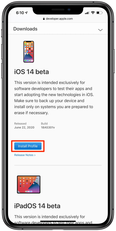 Instale o iOS 14 beta iPadOS 14 beta