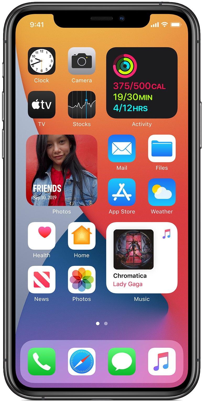 Widgets na tela inicial do iPhone no iOS 14
