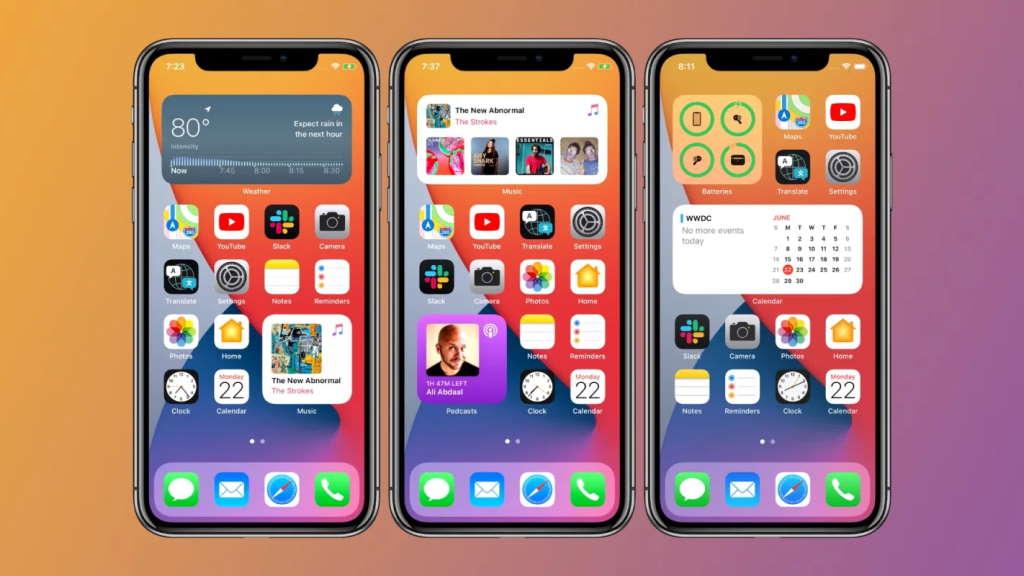 iOS 14 iPhone toques traseira apps ações