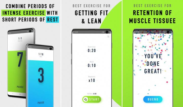 5        Aplikácie pre Android, aby ste čo najlepšie využili váš interiér - Časovač tréningu - HIIT a Tabata