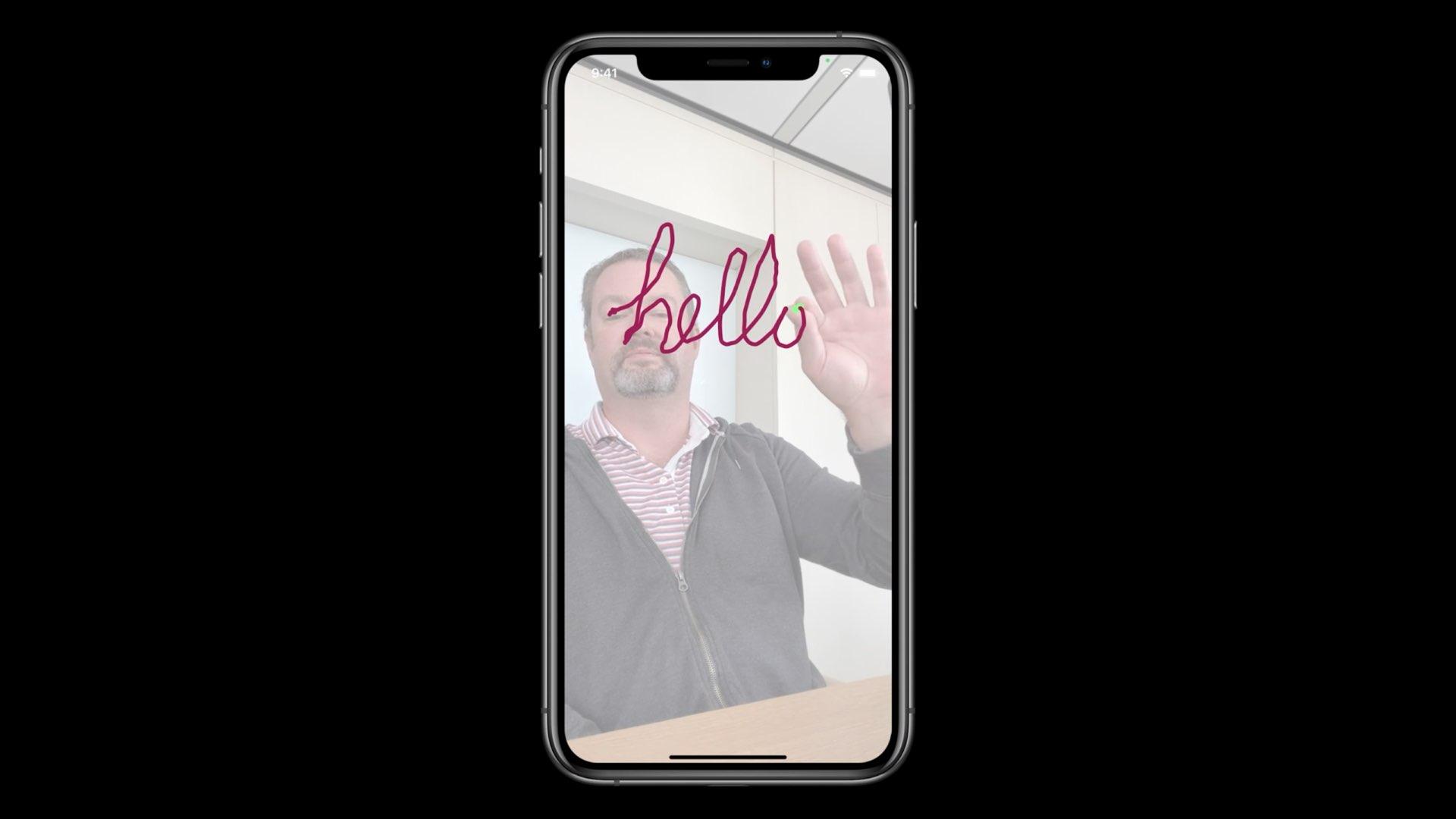 Apple  permite que os desenvolvedores detectem o corpo humano e as mãos para interação sem a tela de um aplicativo 1