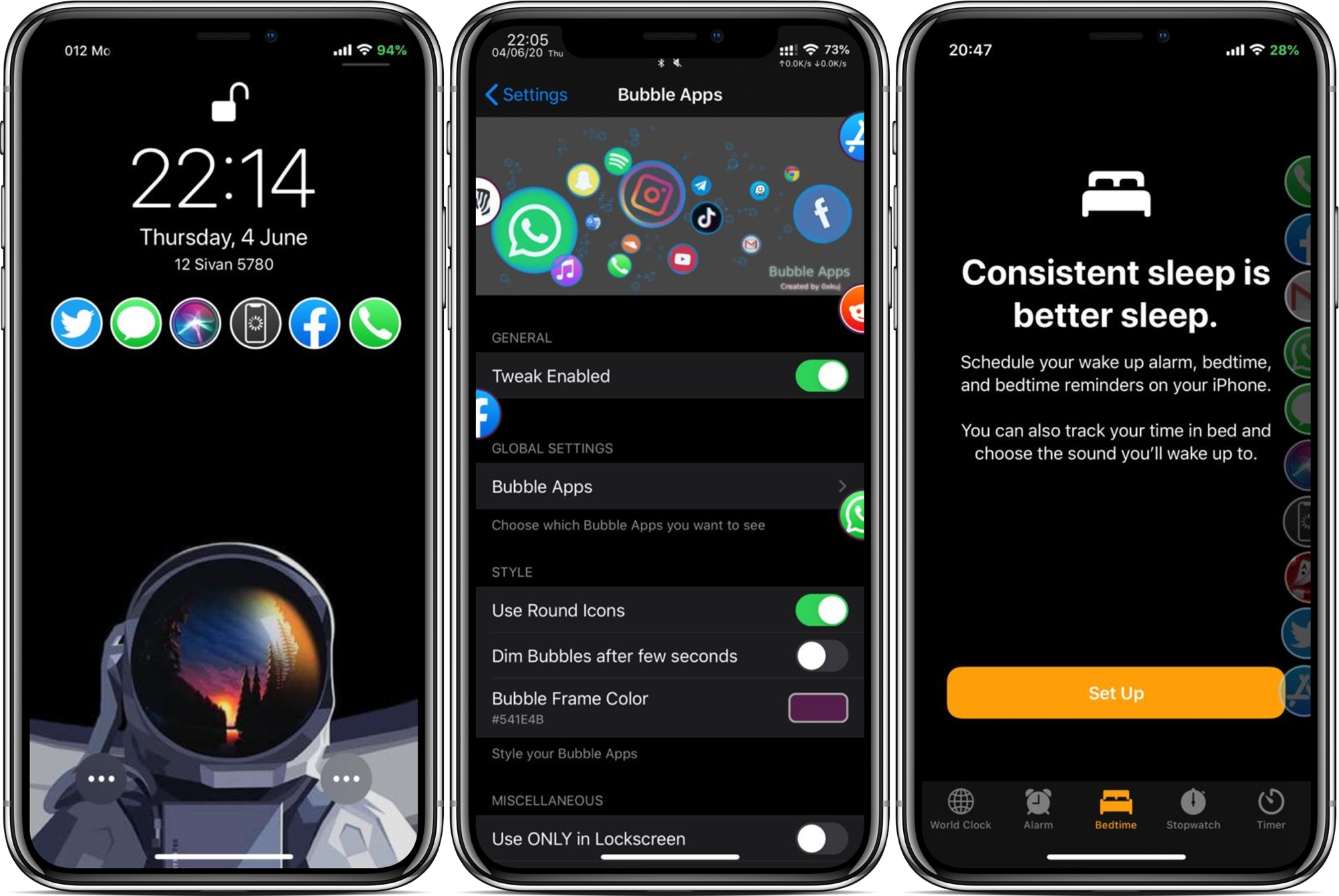 O Bubble Apps é um lançador altamente configurável para iPhones com jailbreak 1