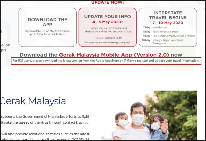Gerak Malaysia v2.0 Atualização para iOS disponível 7 Talvez 1