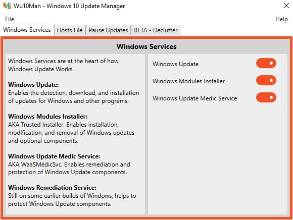 Zatrzymaj automatyczne Windows 10 aktualizacji z Wu10Man