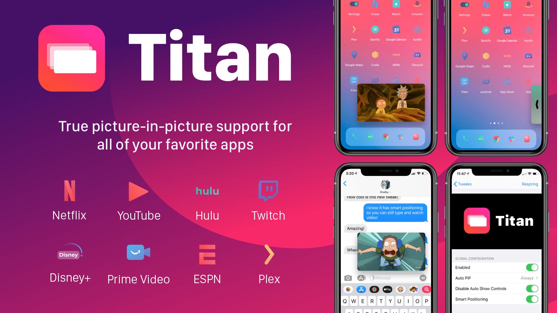 Získajte nabitý režim Picture-in-Picture podobný iPadu pre iOS s Titanom 1