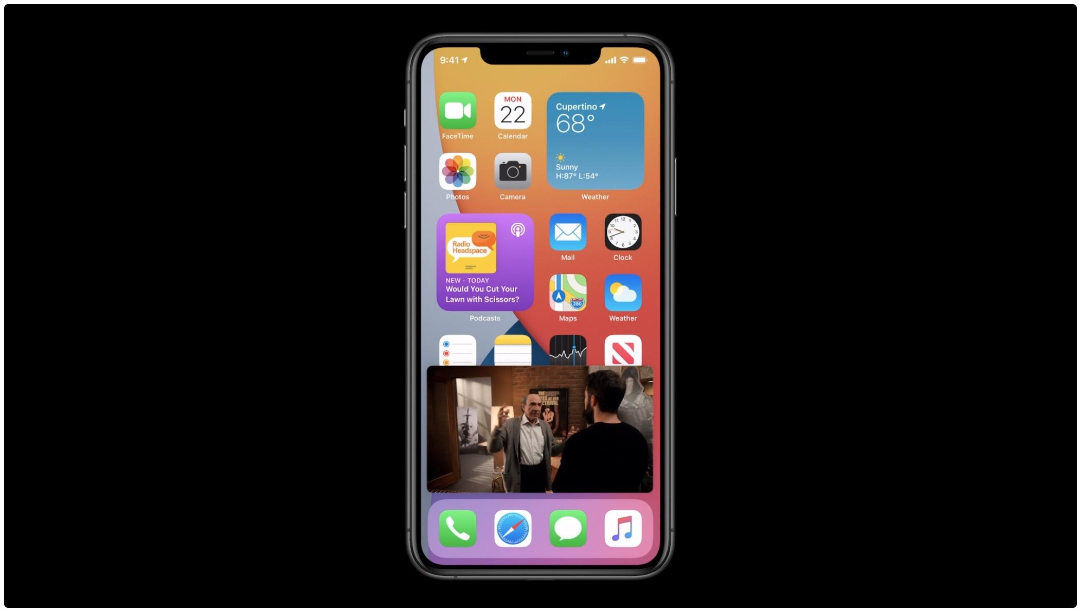 Obrázok na obrázku na zariadení iPhone - WWDC 002 slide