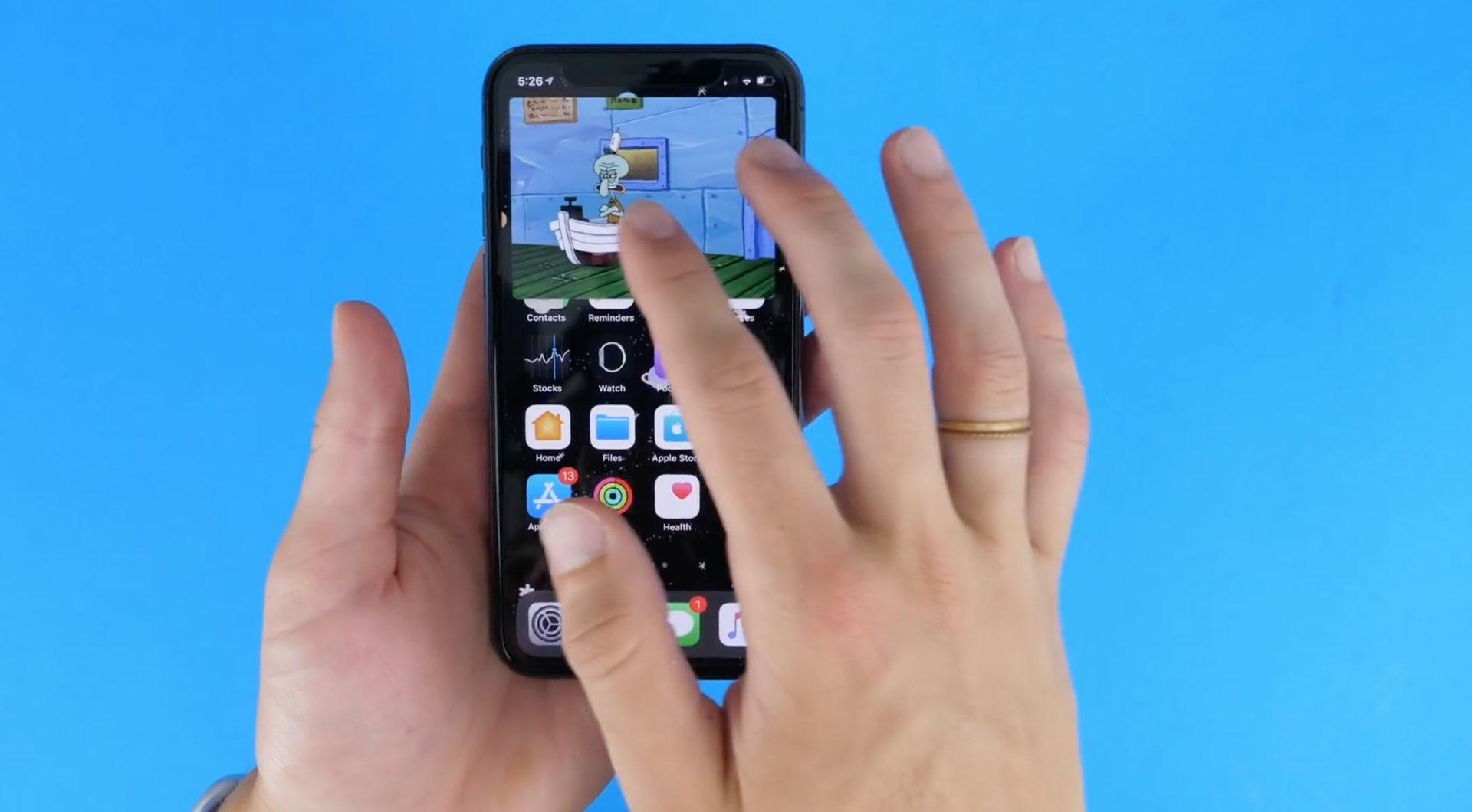 Obrázok na obrázku na iPhone - maximalizácia prekrývania