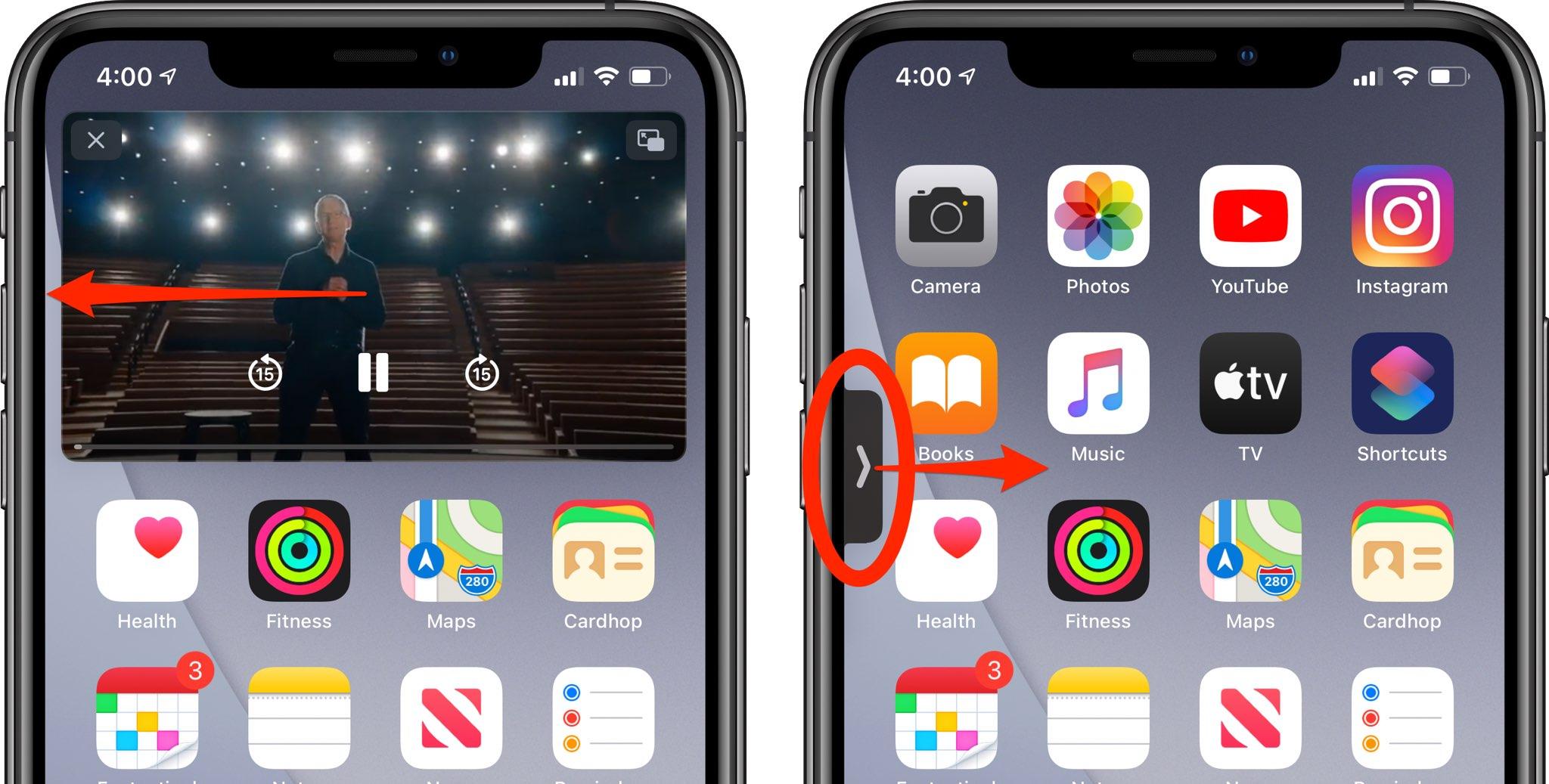Obrázok na obrázku na iPhone - sprievodca po fondoch