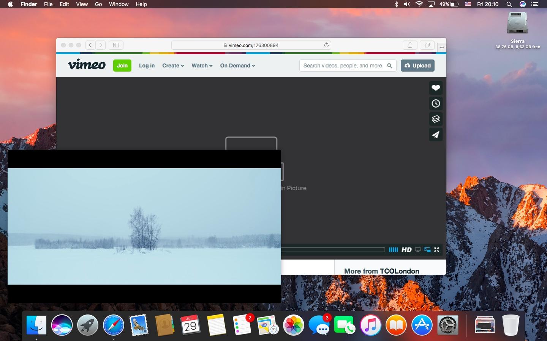 Obrázok na obrázku na počítači Mac