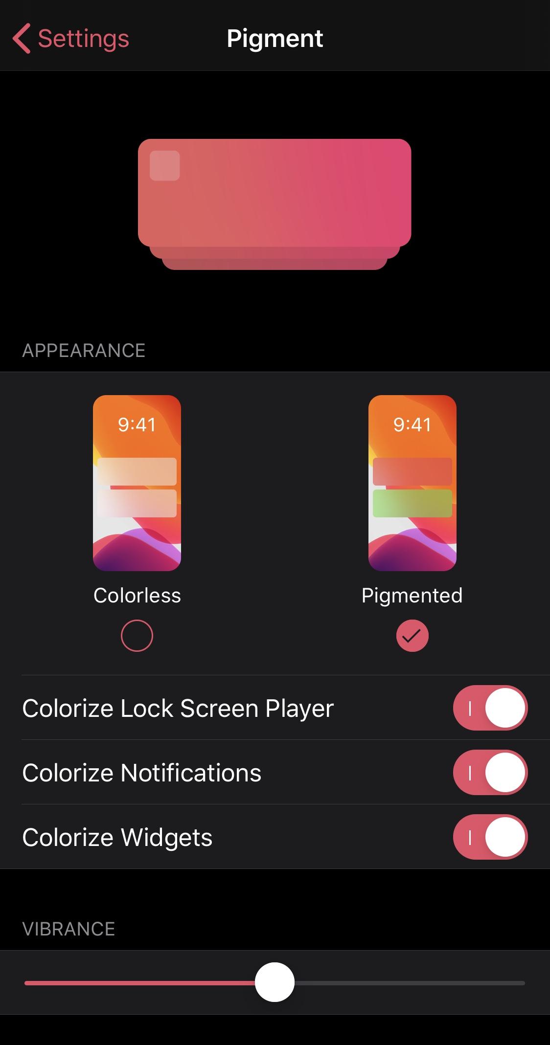 Pigment ponúka rýchle a pohodlné možnosti na vyfarbenie bannerov a miniaplikácií 2