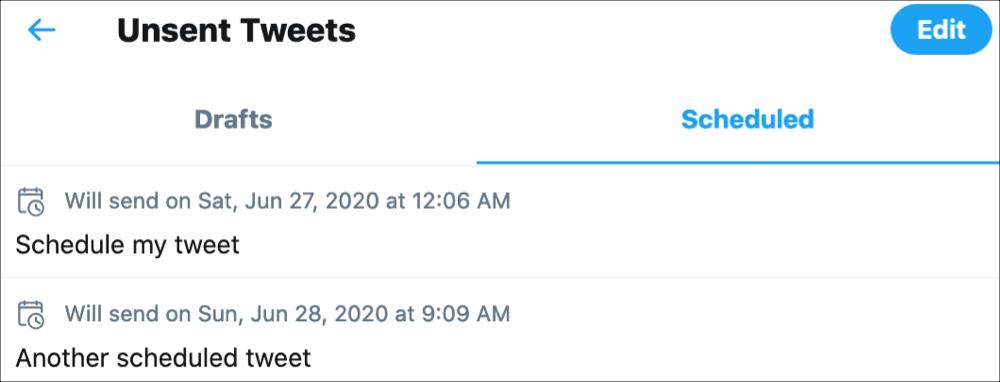 Twitter        Naplánované Tweety