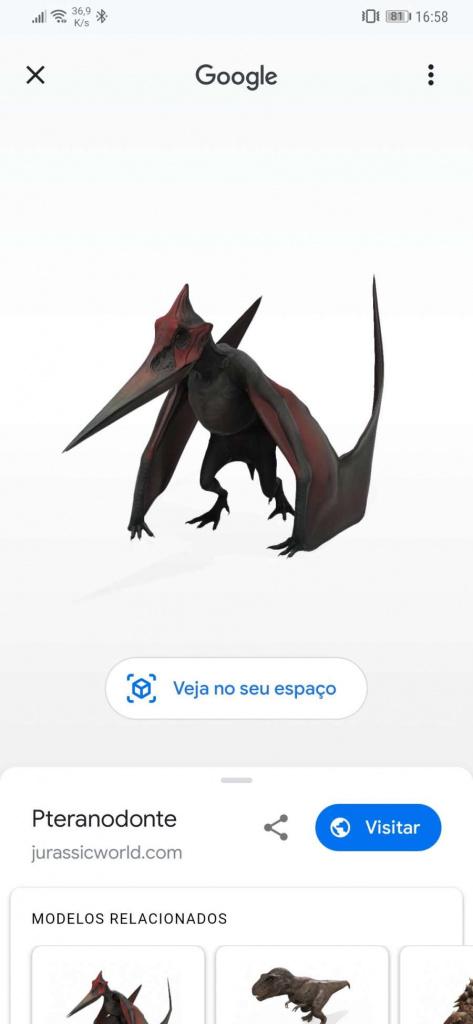 Pesquisar por smartphones com dinossauros do Google