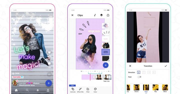 Ste chorí na TikTok?  Objavte alternatívne aplikácie [Android/iOS] - Funimate: Video editor a hudobné efekty Clip Star