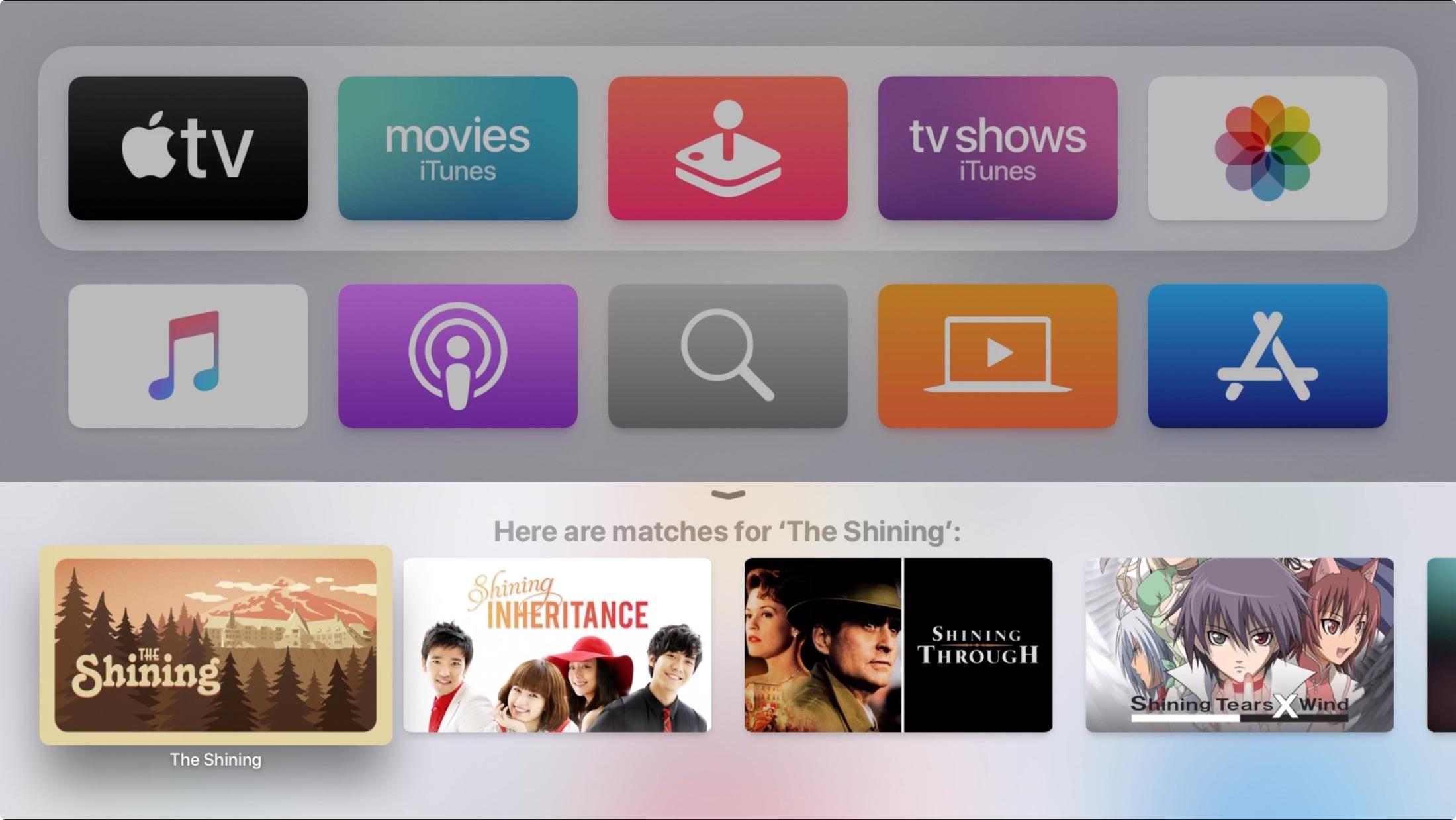 Vyhľadávanie videa Siri bolo povolené Apple televízia