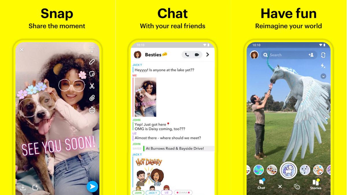 Captura de tela do Snapchat 2020 2