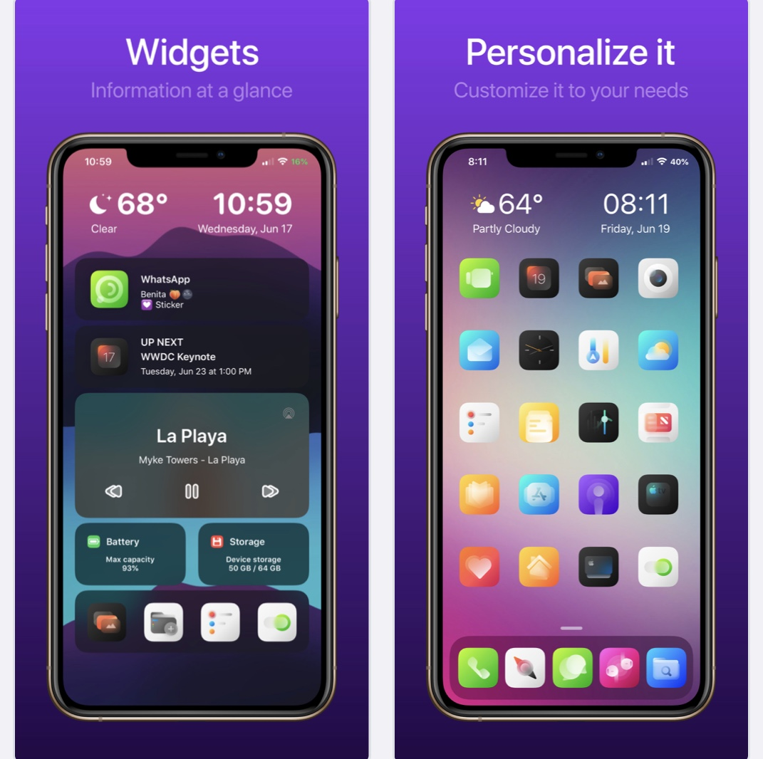 O Viper recarrega as telas iniciais e as telas bloqueadas do iPhone 3