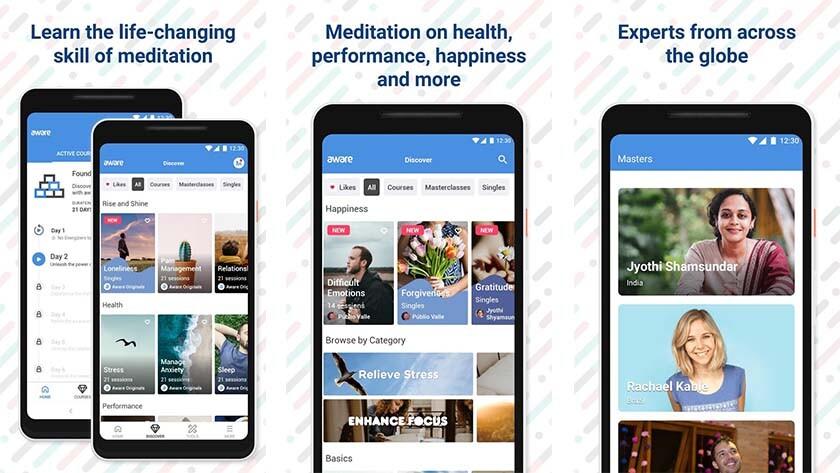 consciência é um dos melhores aplicativos de meditação no Android