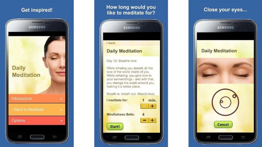 Meditação diária - as melhores aplicações de meditação