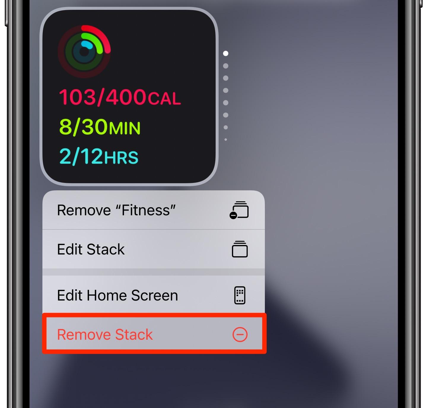 Widgety Smart Stack na iPhone - odstráňte