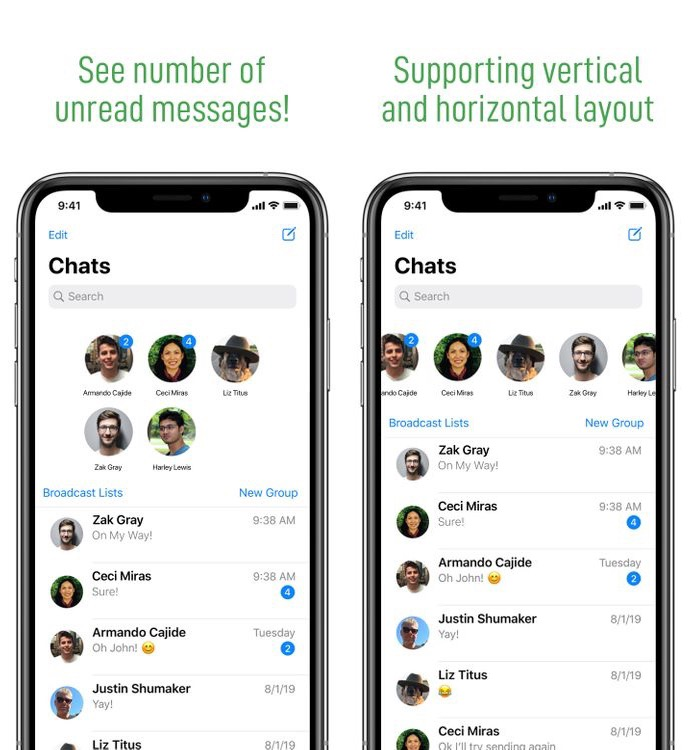 PinHeads WhatsApp prenáša konverzáciu z iOS 14 pripnutím používateľského rozhrania do WhatsApp 2