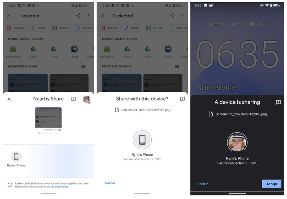 O Google começa a testar o compartilhamento nas proximidades;  Compartilhar função semelhante ao Airdrop no Android 2