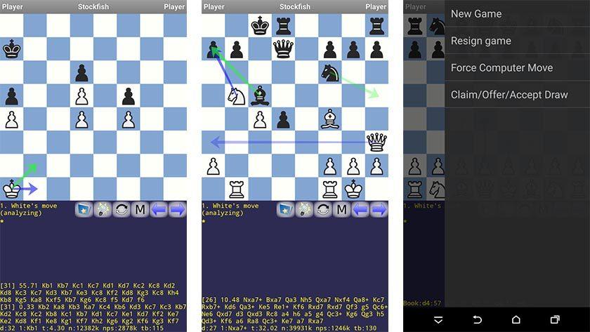 droidfish é um dos melhores jogos de xadrez