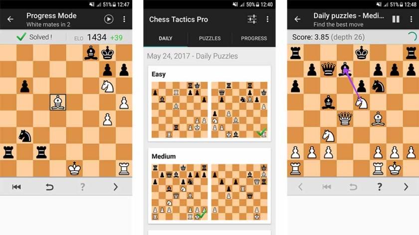 Táticas de xadrez Pro - os melhores jogos de xadrez para Android