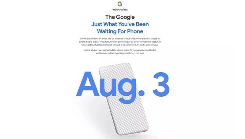 É oficial! A Google vai lançar um novo smartphone já dia 3 de agosto